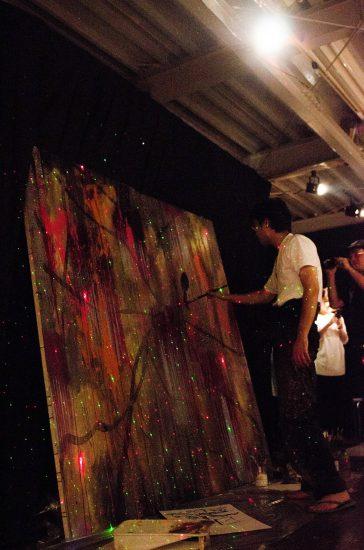 渡辺有葵公開制作+個展(MUSICコラボDJ SHINGO) Yuuki Watanabe Exhibition and music collaboration Dj Shingo, Contemporary Art Studio, HIGURE17-15cas, Tokyo, 2013