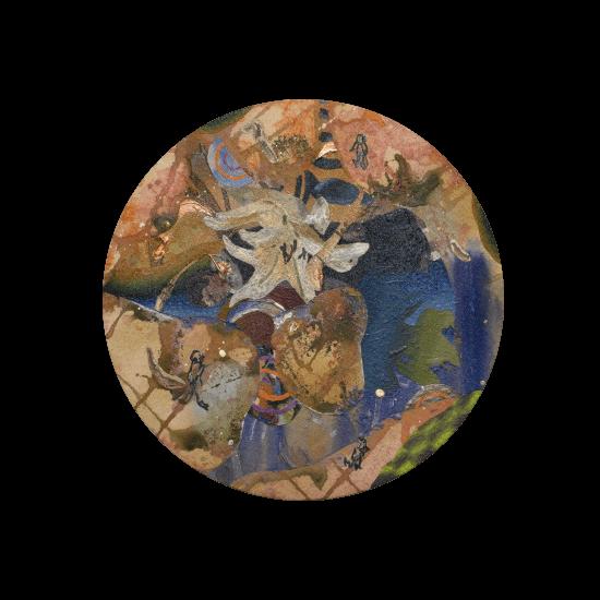 色霊(シキダマ) SHIKIDAMA [Oil on cotton cloth, Medium, 30cm, 2020]