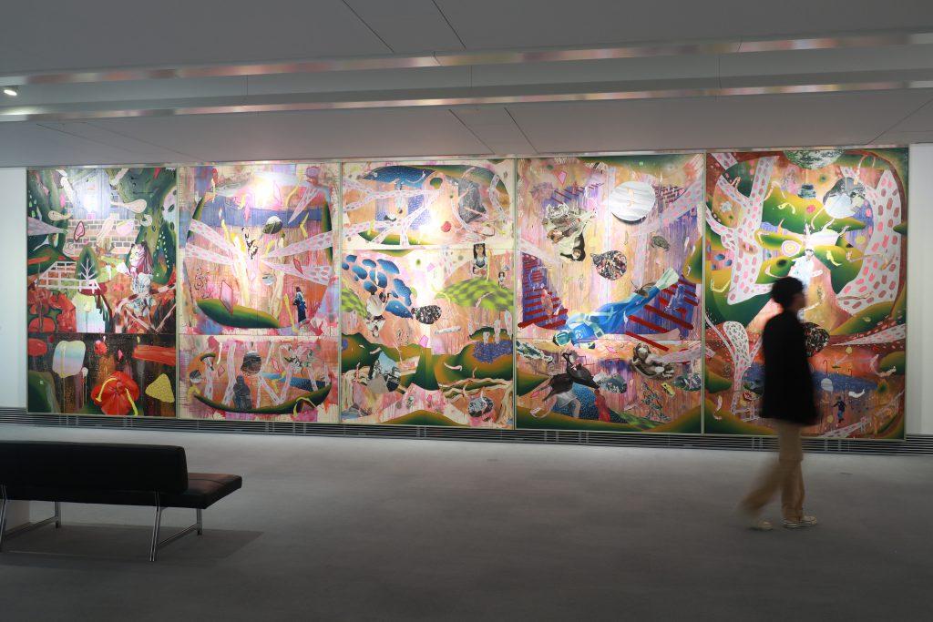 渡辺有葵展 -無重力的平面- Yuuki Watanabe Exhibition -The picture which is like zero gravity-, SANSHIN GALLERY ZEN, Mishima, 2019