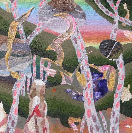 明るい森と暗い森を歩く I am walking in the bright forest and the dark forest [Acrylic on arches paper, AQYLA, 13×13cm, 2015]